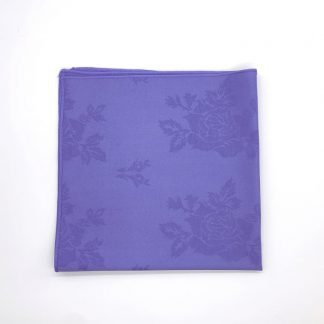 Violet Napkin With Rose Pattern