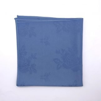 Wedgewood Blue Coloured Linen Napkin With Rose Pattern