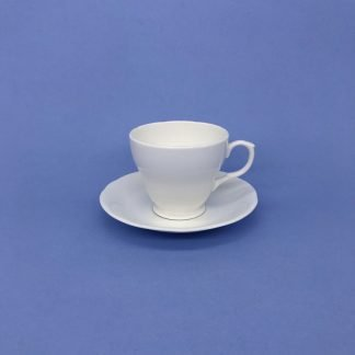 White Bone China Coffee Cup