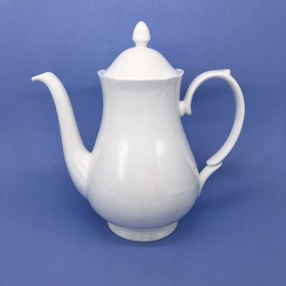 White Bone China Coffee Pot