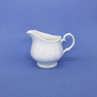 White Bone China Cream Jug