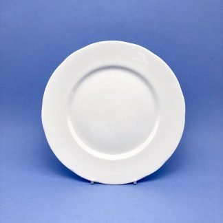 White Bone China Dessert Plate