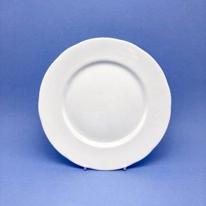 White Bone China Dessert Plate