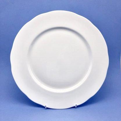 White Bone China Dinner Plate