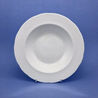 White Bone China Rimmed Soup Bowl