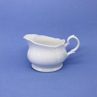 White Bone China Sauce Boat