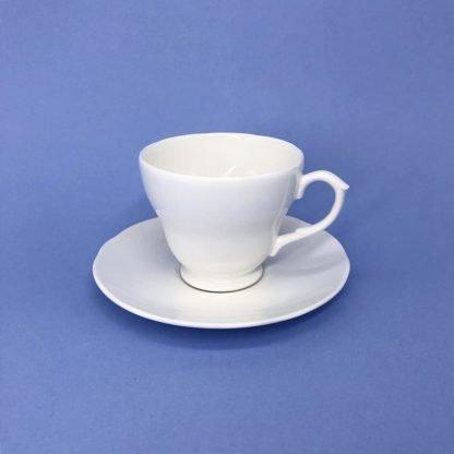 White Bone China Tea Cup