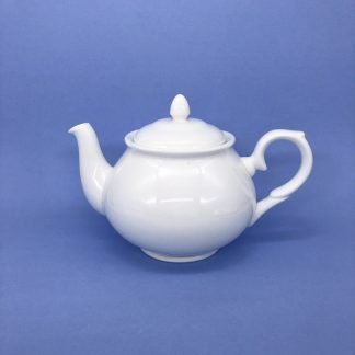 White Bone China Tea Pot