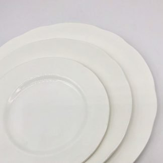 White Bone China Scalloped