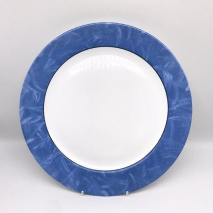 White Plate With Blue Rim