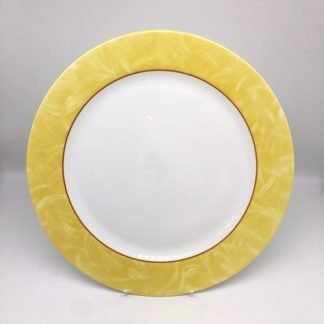 White Plate With Yellow Rim