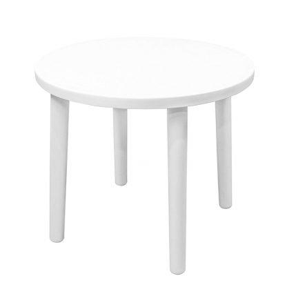 Plastic White Round Garden Table