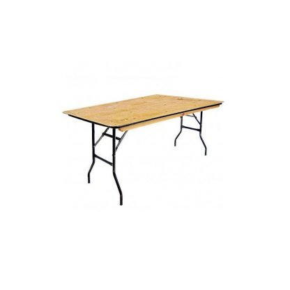 Wooden Trestle Table 4 Foot x 30 Inch