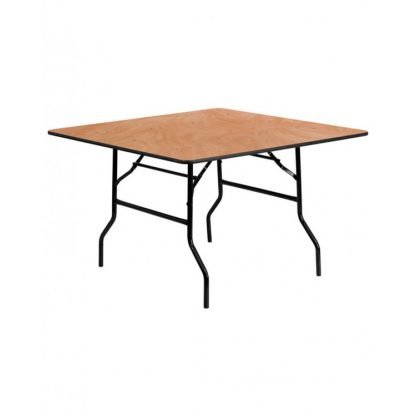 Wooden Trestle Table 5 Foot x 4 Foot