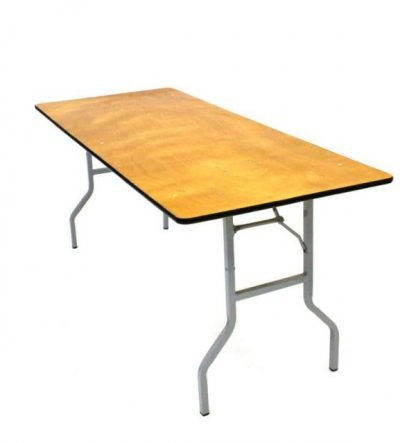 Wooden Trestle Table 6 Foot x 30 Inch